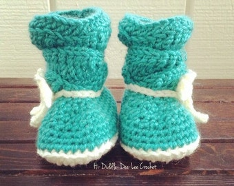 Crochet Slouch Boots