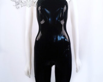 Latex Rubber Catsuit with capri length legs by VEX - Short Cut Catsuit