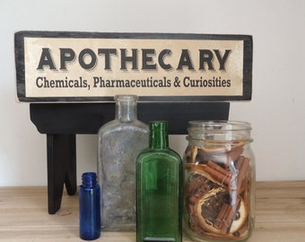 Apothecary Sign For Halloween Decor Party Decor Haunted House Sign Photo Props