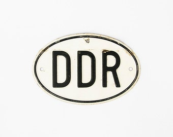 Original Vintage German sign licenseplate DDR 1960-