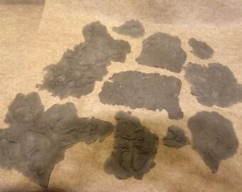 Foam rubber burn prosthetic appliances movie -  tv show - Theater - Halloween prop 10 sizes grey make up artist supplies