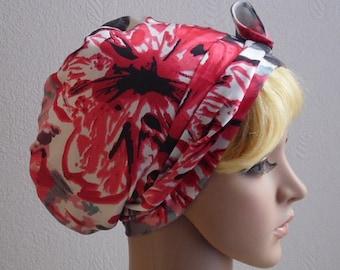 Women's satin hair bonnet, bad hair day scarf, sleeping cap, silky tichel, head snood, bad hair day headscarf, satin hair wrap