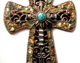 CROSS one of a kind handmade ooak religious art found object wall decor