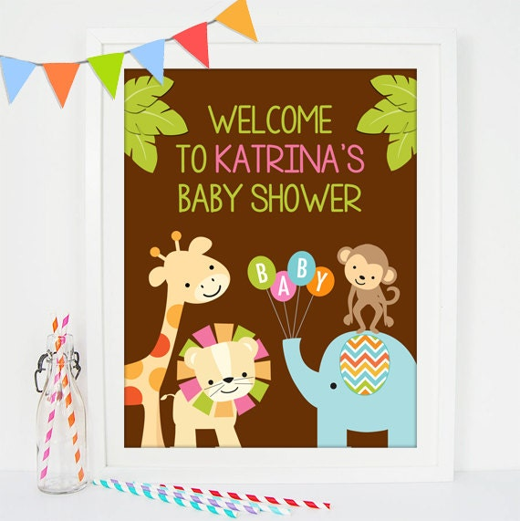 welcome sign safari baby shower printable welcome sign jungle