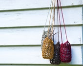 Crochet Mason Jar Holder / / water bottle bag  / hanging candle holder / hanging plant holder / home decor gifts and wellness accessories