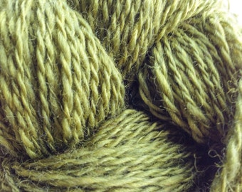 Handspun Avocado Green Superwash Yarn