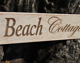Beach Cottage  Sign, Handmade With Love For Your Home.