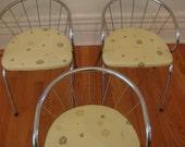 Mid Century Atomic Chrome/Vinyl Chairs