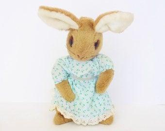 Vintage Beatrix Potter Rabbit Plush Stuffed Animal