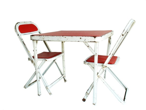 Vintage Children s Folding Table and Chair Set Hampden