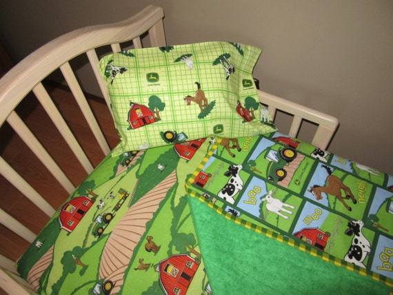 JOHN DEERE Fabric Baby Crib Toddler Bedding Tractor By