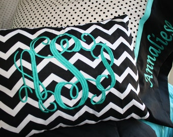 Monogrammed Embroidered Personalized Pillow