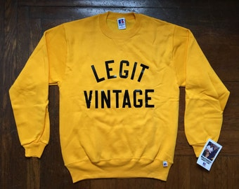 legit vintage X russell crewneck size medium