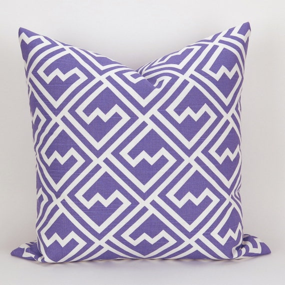 Standard Throw Pillow Cover Sizes : Purple Pillow Cover MANY SIZES Geometric Throw Pillow