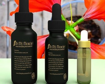 Best Hair Growth Oil!! Oh My, Miracle! Herbal Stimulating Hair Growth Oil (Organic)