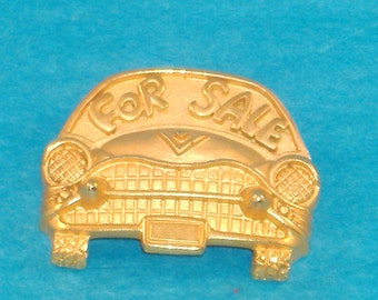 Vintage Casual Corner Goldtone For Sale Automobile Brooch, Car Brooch, Signed Jewelry - Excellent Condition