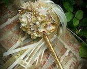PRIVATE Champagne Blush Ivory Flower Girl Wand Custom Order for Toni