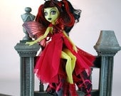Handmade Monster doll couture gown beautiful design and details