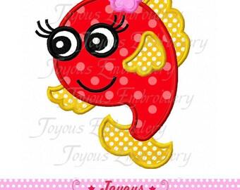 Instant Download Cute Fish Applique Machine Embroidery Design NO:1784