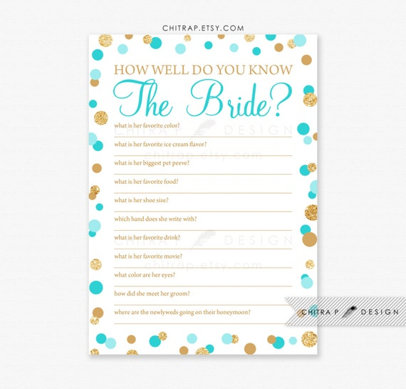 Items Similar To Blue Bridal Shower Game