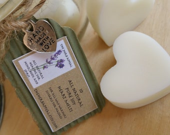 Large Soy Melting Hearts for Tart Warmers... In a Variety of Scents! Suitable for Massage!