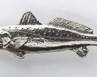 Pewter - Speckled Trout          - Lapel Pin/Brooch - S034,SC034,SP034