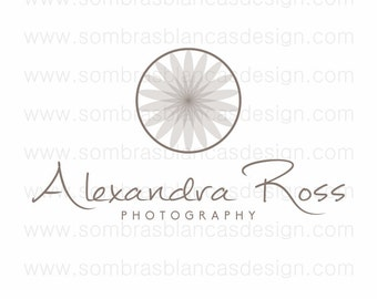 OOAK Premade Logo Design - Transparent Flower - Perfect for a yoga center or a professional photographer