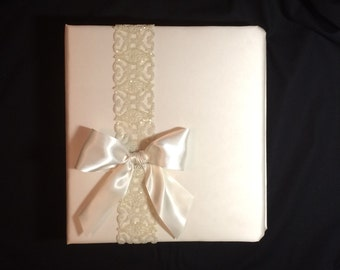 Wedding Memory Album tied up with a Bow