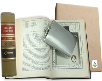 SneakyBooks Recycled Hollow Law Book Hidden Flask Diversion Safe (Flask Included) by Greenfire Products