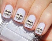 42 Moon face Nail Decals | Water Slide | Easy & Fun