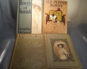 Set of Four Vintage Books