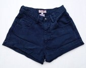 High Waisted Vintage Guess Shorts Navy Blue Size 2/3