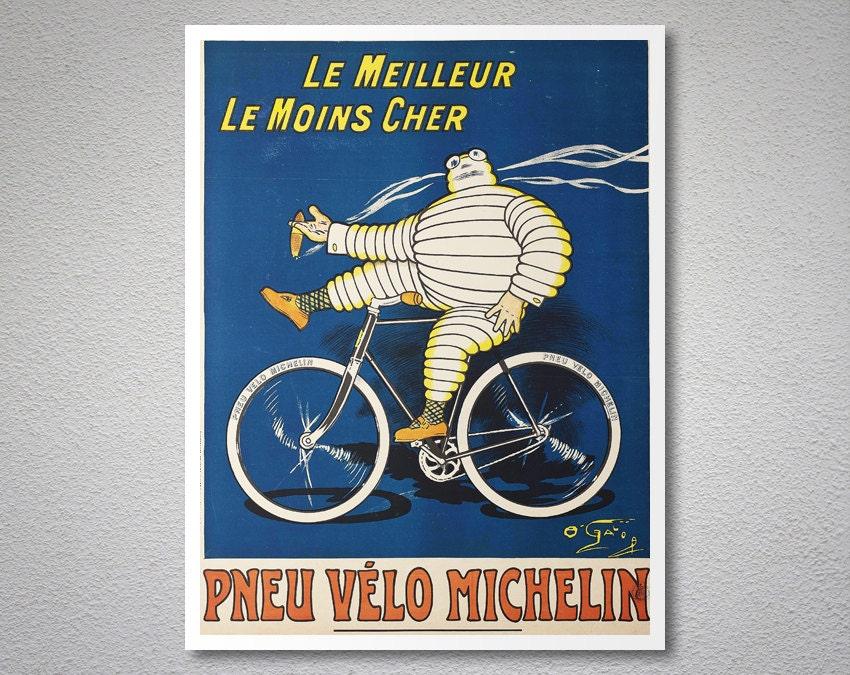 Le meilleur le moins cher pneu velo michelin vintage poster - Photos posters moins cher ...