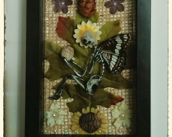 Fairy In A Frame - Aspen (Made with Real Butterfly Wings)