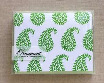 Paisley Letterpress Card Set
