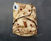 Wandering Feet Marauder's Map One Size All In One (AIO), All In Two (AI2), or Pocket Cloth Diaper