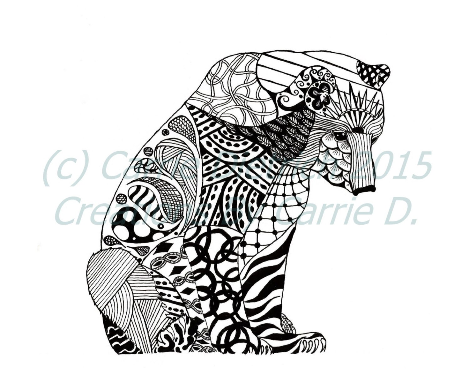 Geometric Bear Drawing Images amp Pictures Becuo