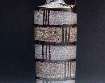 Strehla  vase Lava East German Pottery 60s Eames era Mid century Fat Lava