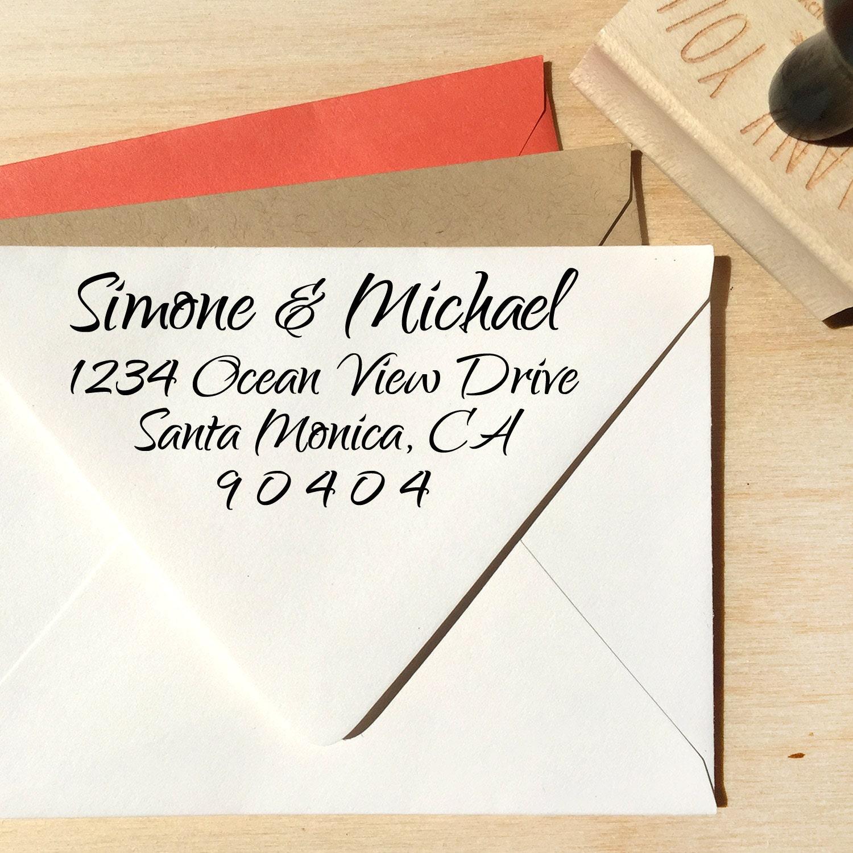 Custom Return Address Stamp Handwriting Stamp Calligraphy