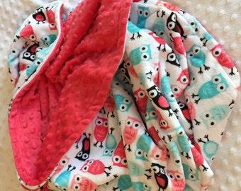 Double sided minky blankets