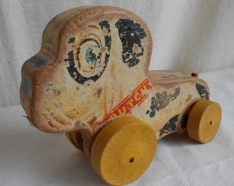 Vintage Fisher Price Dog Pull Toy Butch