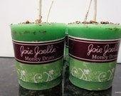 Money Spell  Green Votive Candle  Altar Candle, Spiritual Candle, Dressed Candle, Holy Candle, Temple Candle 4 pack