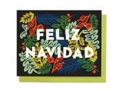 Feliz Navidad Card Singles and Box Set of 8