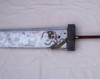 STEAMBUSTER...  FFVII Inspired Steam Punk Buster Sword Replica w/ Steamateria