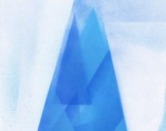 Blue Geometric original painting