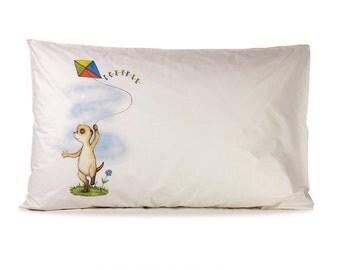 Cotton Meerkat Pillowcase
