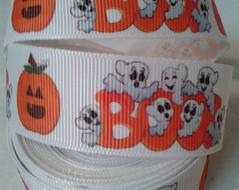 Ghosts/Boo Grosgrain Ribbon