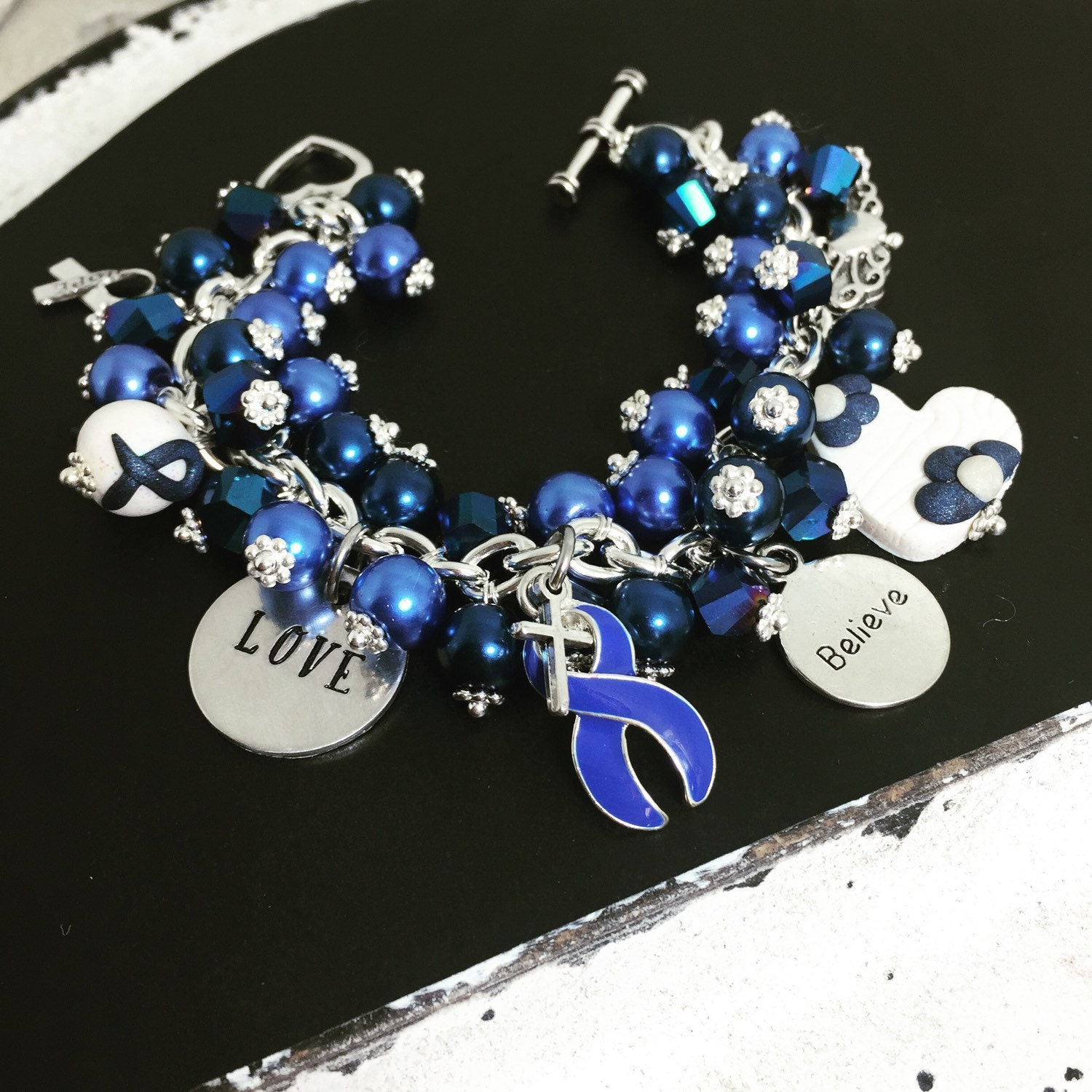 stainless steel colon cancer bracelet colon cancer awareness