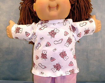 16 Inch Doll Clothes - Glamour Kitty Pants Set made by Jane Ellen to fit 16 inch cloth dolls
