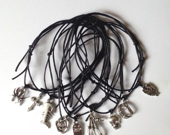 Ankle Bracelets Anklets - Adjustable Cord String - 9 Designs - Gothic Punk